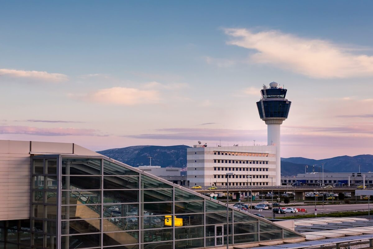 BRIDGES partners: Athens International Airport - Photo of main building and control tower