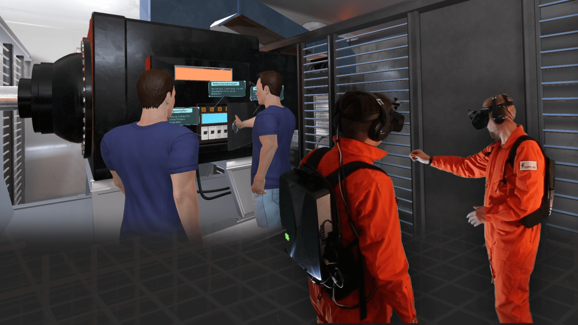 Immersive Deck: photo of user experience in industrial training