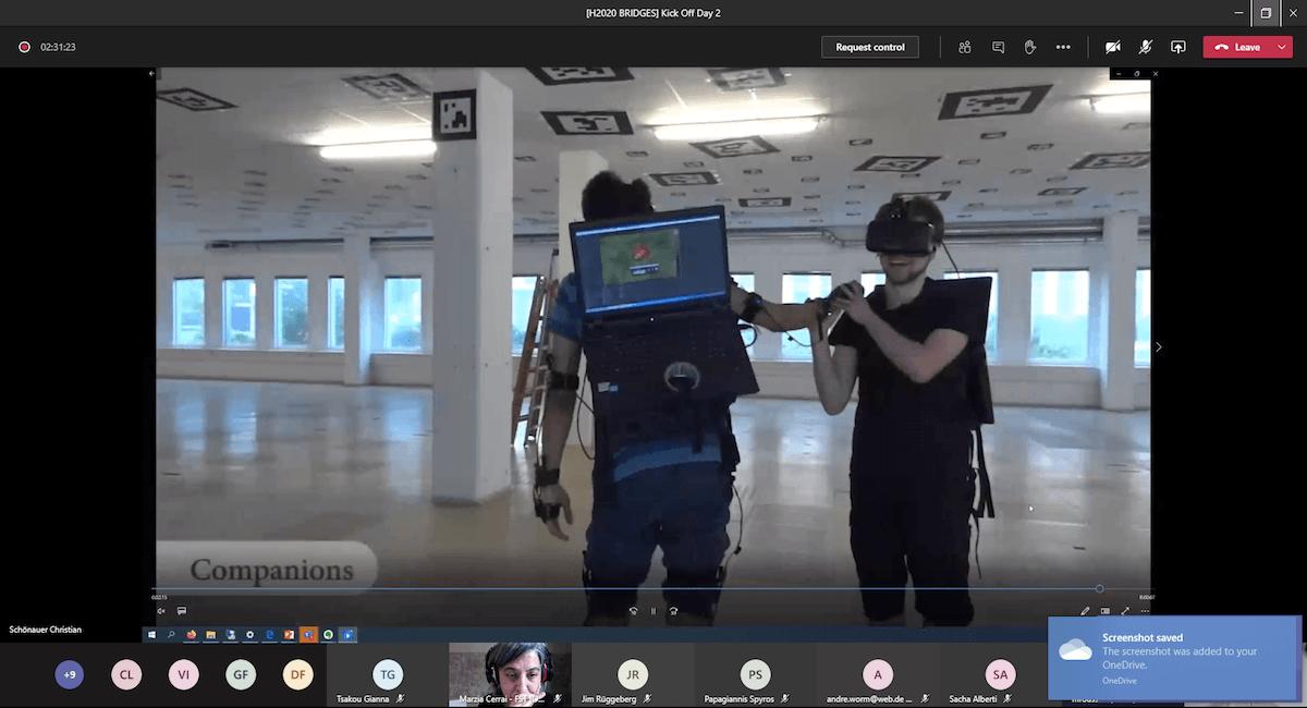 BRIDGES virtual kickoff meeting: a screnshoot during technical presentation
