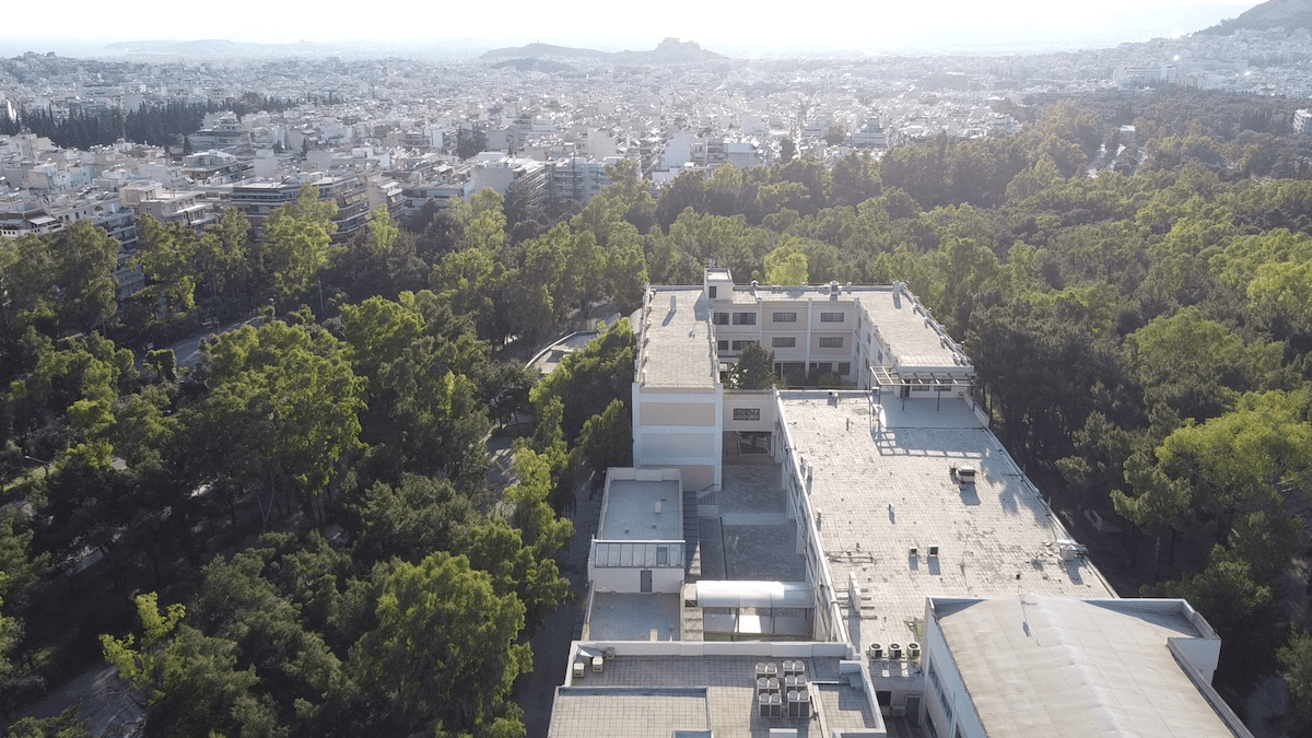 BRIDGES partners: National and Kapodistrian University of Athens logo - Aerial view