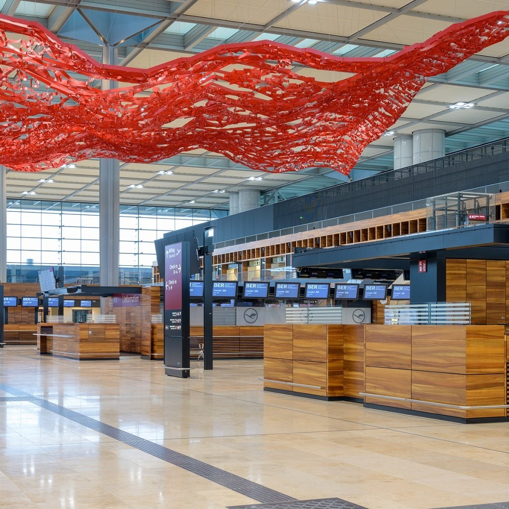 BRIDGES partners: Berlin Brandeburg Airport - check-in hall