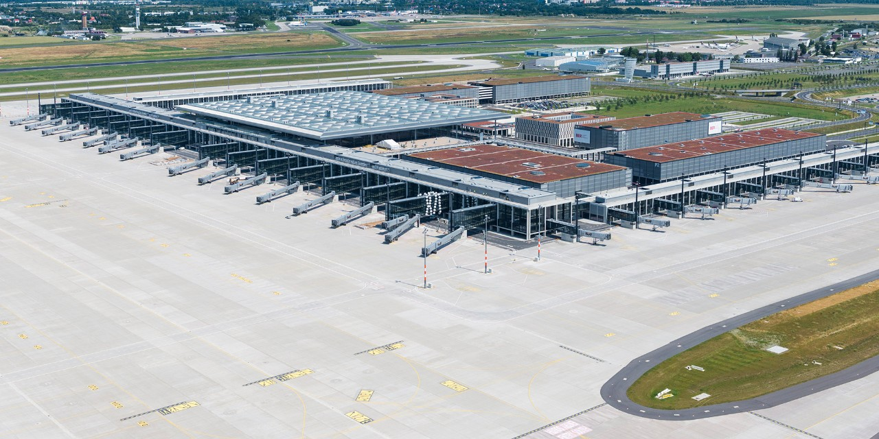 BRIDGES partners: Berlin Brandeburg Airport - aerial view